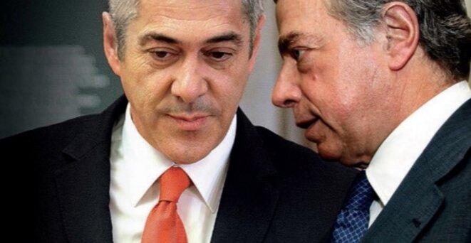 José Socrates et Ricardo Salgado, co-accusés © Impala.pt