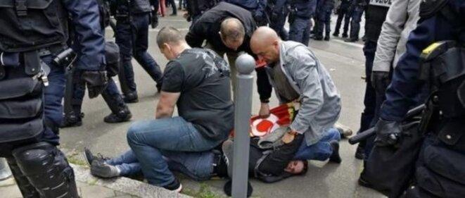 Arrestation d'Antoine à Lille le 17 mai 2016 © JPH