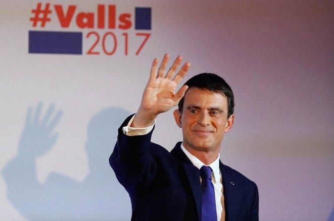 Manuel Valls, el domingo 22 de enero, en la Maison de l'Amérique latine. © Reuters