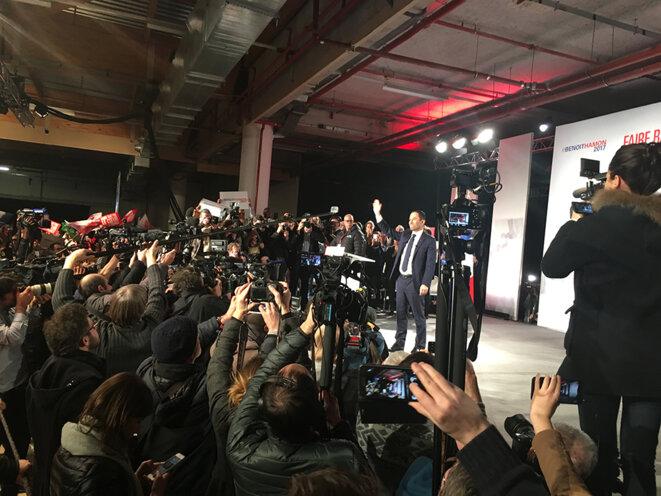 Benoît Hamon jeudi soir à Montreuil. © CG