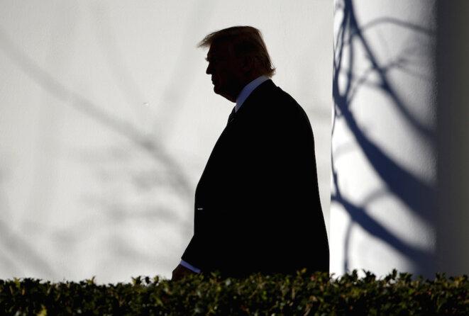 Donald Trump à la Maison Blanche, janvier 2017 © Reuters