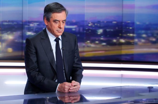 François Fillon sur le plateau du 20 heures de TF1, le 26 janvier. © Reuters