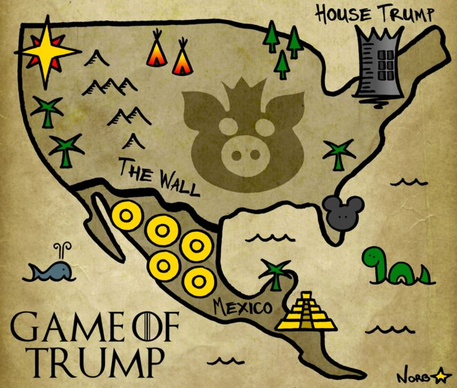 Game of Trump: le grand Mur du Roi Fou © Norb