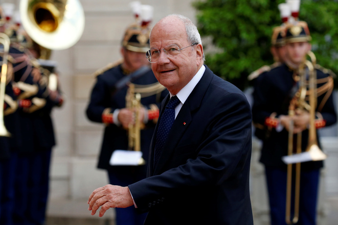 Friend of François Fillon: billionaire Marc Ladreit de Lacharrière at the Élysée on July 11th, 2016. © Reuters