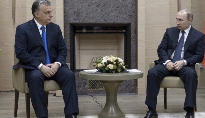 Viktor Orbán et Vladimir Poutine © Reuters