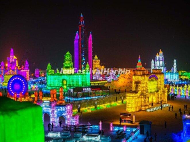 Harbin, Festival de sculptures sur glace, 2015