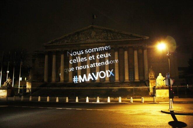 Cleantag lumineux de #MAVOIX Nous Sommes celles et ceux que nous Attendions
