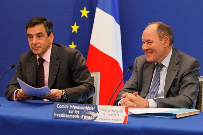 François Fillon et René Ricol, lors d'un comité interministériel à Matignon, en mai 2010. © Reuters.