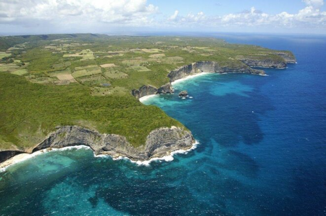 Marie-Galante, Guadeloupe, vue du ciel