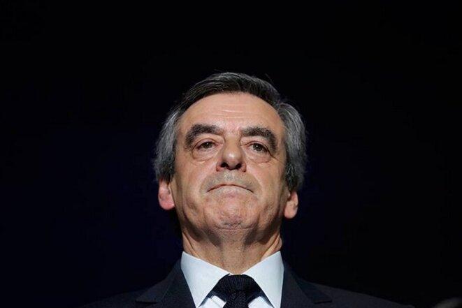 François Fillon à Charleville-Mézières, le 2 février © Reuters