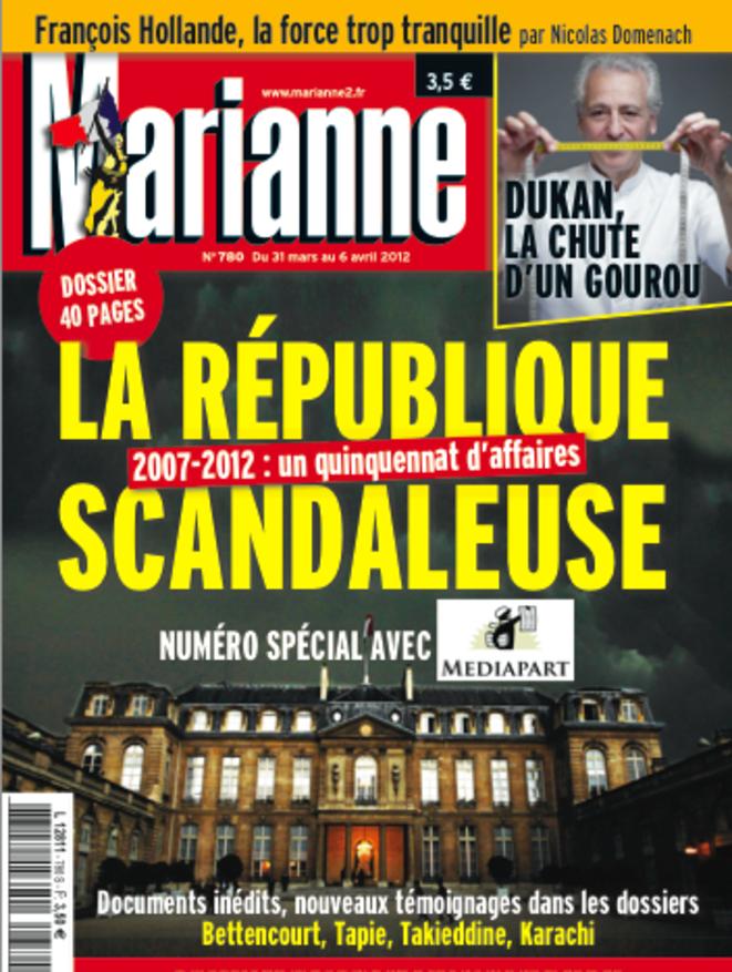 Numéro spécial de Marianne en partenariat avec Mediapart