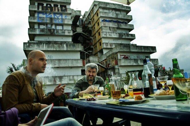 "Photo prise sur le tournage de la saison 1 de ""Gomorra"" © Sky Italia / Beta Film"