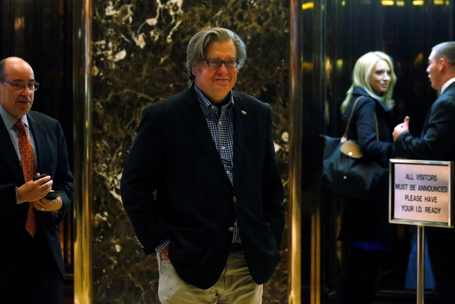 Stephen Bannon, le 13 novembre 2016, à la Trump Tower. © Reuters