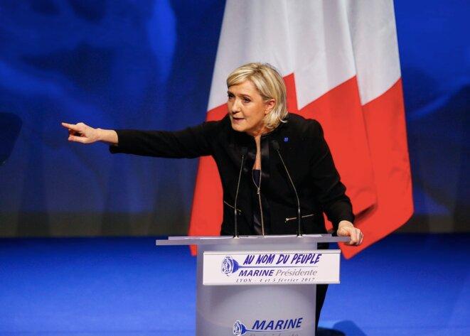Marine Le Pen lors de son discours de clôture des « assises présidentielles », le 5 février © Reuters
