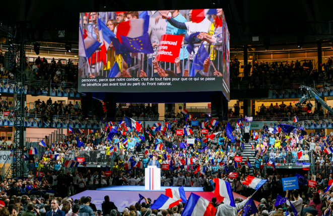 The glitzy Emmanuel Macron rally at Lyon on Saturday February 4th, 2017. © Reuters