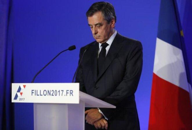 François Fillon lors de sa conférence de presse © Reuters