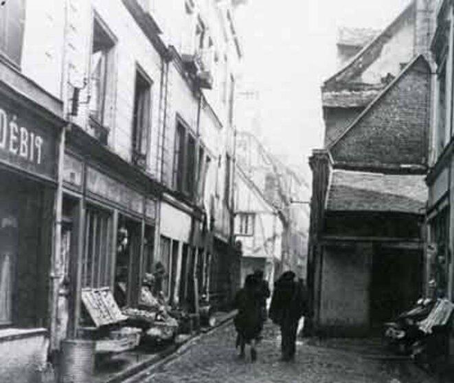 Îlot B disparu (quartier bas Saint-Nicaise). Rue Fleuriguet, avant 1969