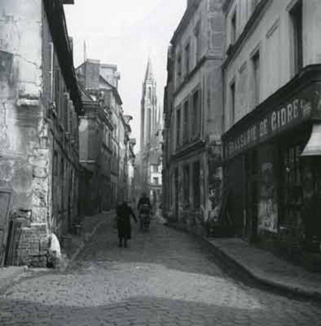 Îlot B disparu (quartier bas Saint-Nicaise). Rue Théodore Lebreton, avant 1969