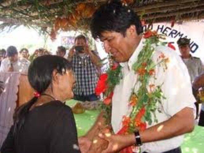 Evo Morales et Bosi Yacu