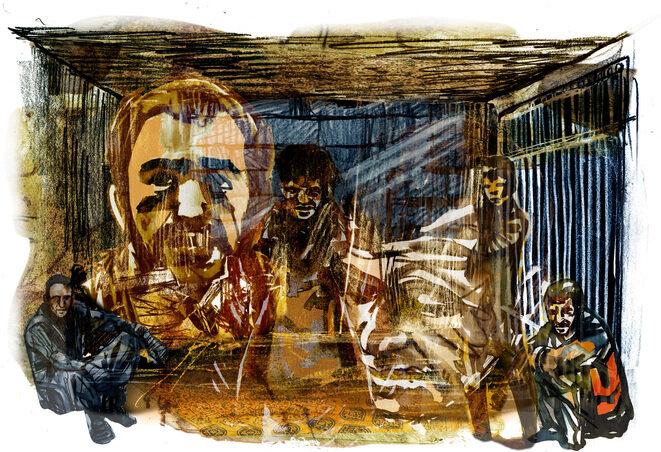 Celda de la prisión de Sadnaya. © Damien Roudeau