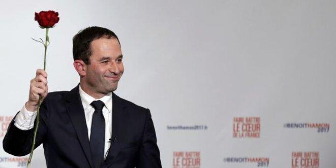 Benoît Hamon, victorieux de la primaire PS © Reuters
