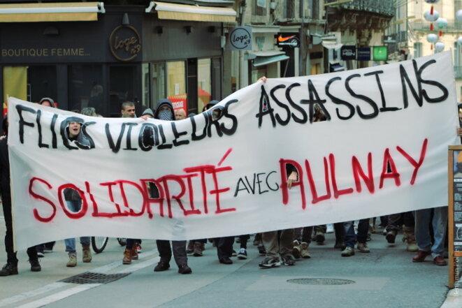 Manifestation en soutien à Théo, Montpellier © Benjamin POLGE