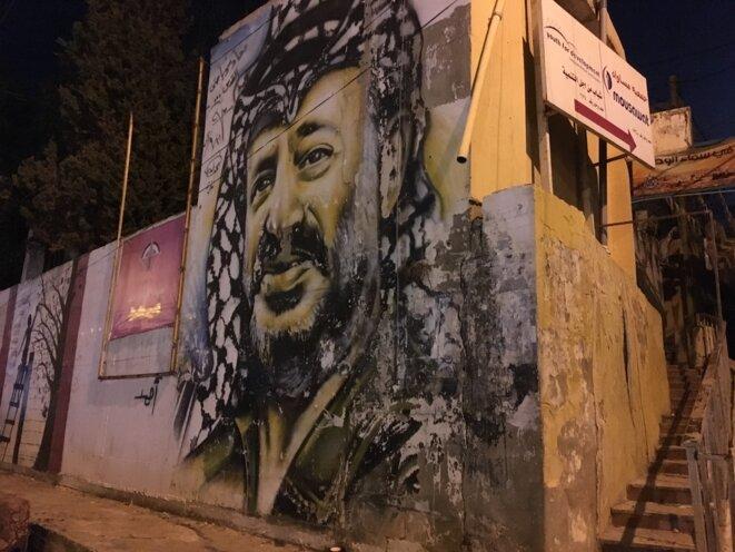 Portrait d'Arafat au camp de Mar Elias © LD