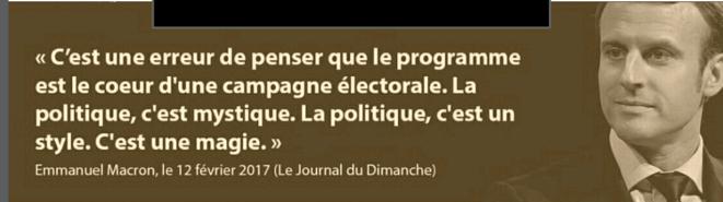 Macron le mystique politique