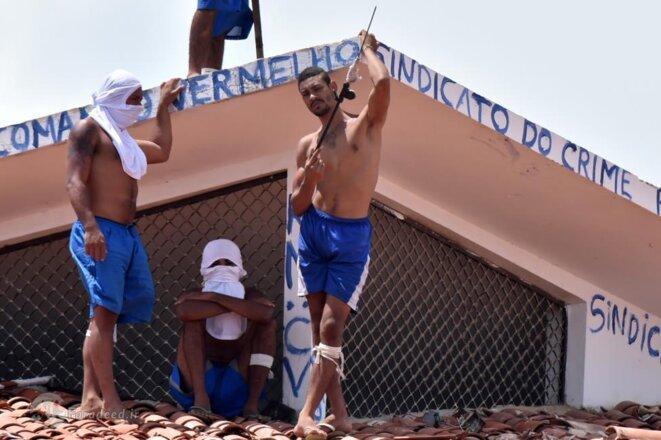 Des prisonniers lors d'une émeute dans la prison de Natal en janvier 2017 © Reuters