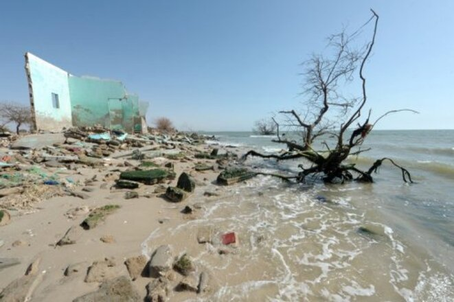 La pointe de Djiffer (Sénégal), menacée par l'érosion