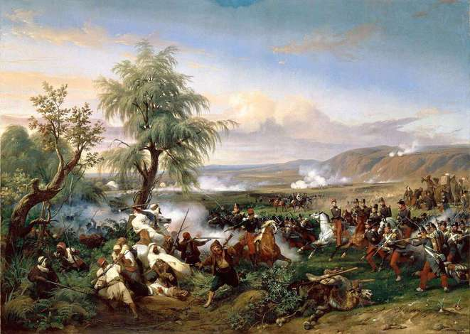 Combat de l'Habrah © Horace VERNET, ou Emile-Jean-Horace VERNET (1789 - 1863)