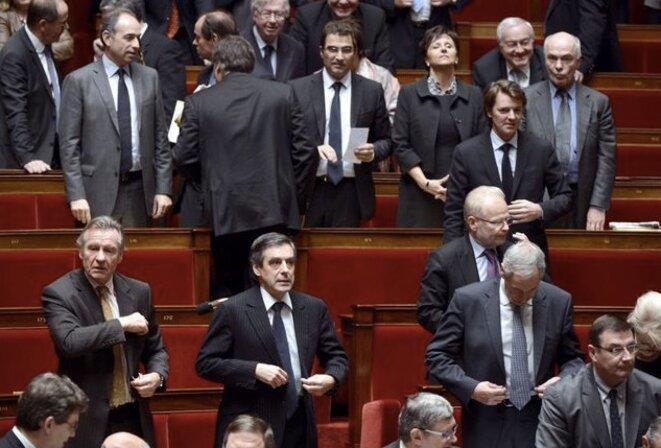 François Fillon, député de Paris, sur les bancs de l'Assemblée nationale © Reuters