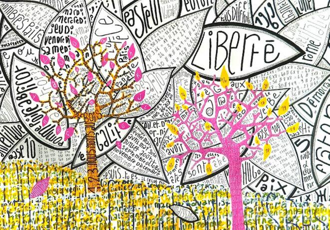 Le Jardin des connaissances - Principe graphique/étude © ARySQUE