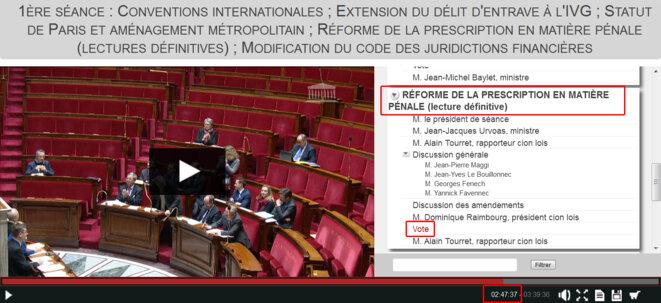 Vidéo de la séance du 16 février 2017 © Assemblée Nationale