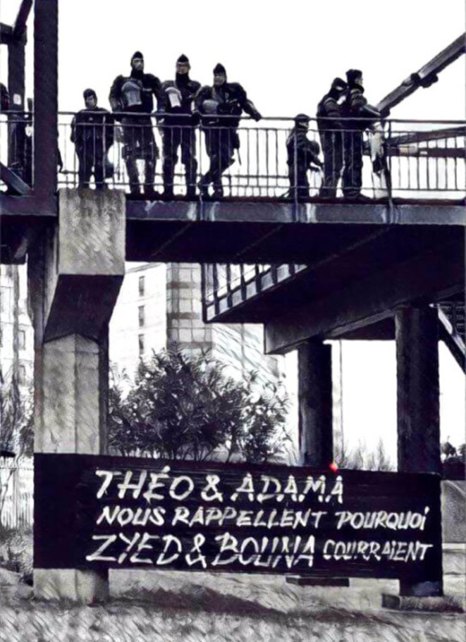 Manifestation #justicepourThéo, samedi 11 février à Bobigny. © Quartiers libres