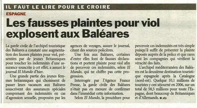 Avis aux nanas interessées par les fausses plaintes pour viol, à vos valises.. Go to Baléares.. Laissez tranquille Saad Lamjarred