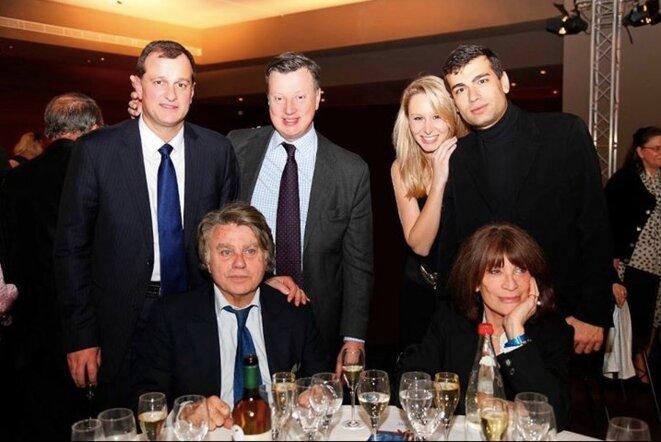 Gaël Nofri (à droite), avec Louis Aliot, l'eurodéputé Édouard Ferrand et les députés Gilbert Collard et Marion Maréchal-Le Pen © dr