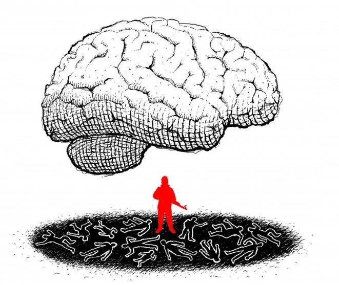 Le cerveau des attentats, par Antoine Doré / www.antoinedore.com © Antoine Doré