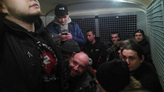 23 février. Antimilitaristes arrêtés. © Bloc de gauche
