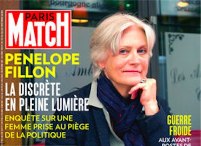 The cover of this week's Paris-Match.