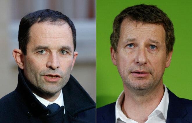 Benoît Hamon et Yannick Jadot © Reuters