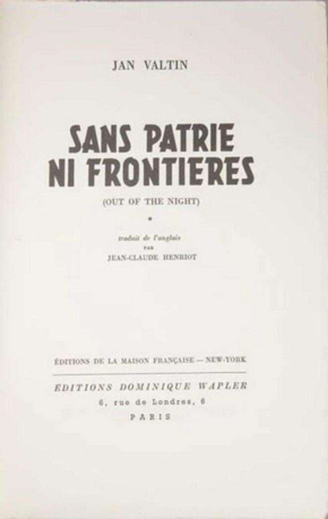 L'une des premières éditions en français