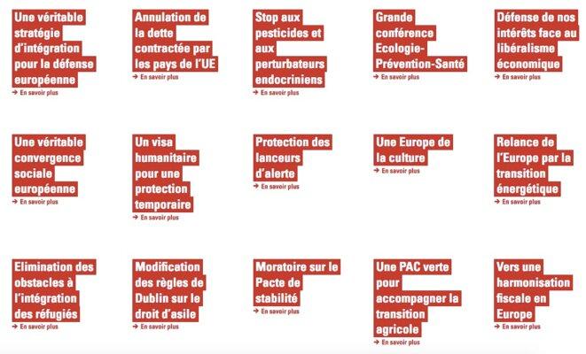 Capture d'écran du site de campagne de Benoît Hamon.