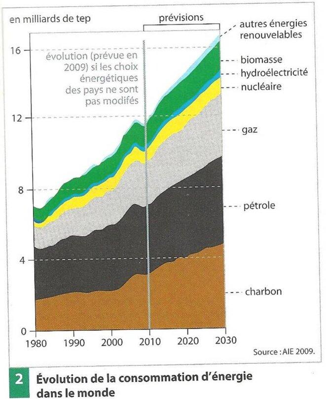 Source : Bertand Barré et Bernadette Mérenne-Schoumaker, Atlas des énergies mondiales (2011))