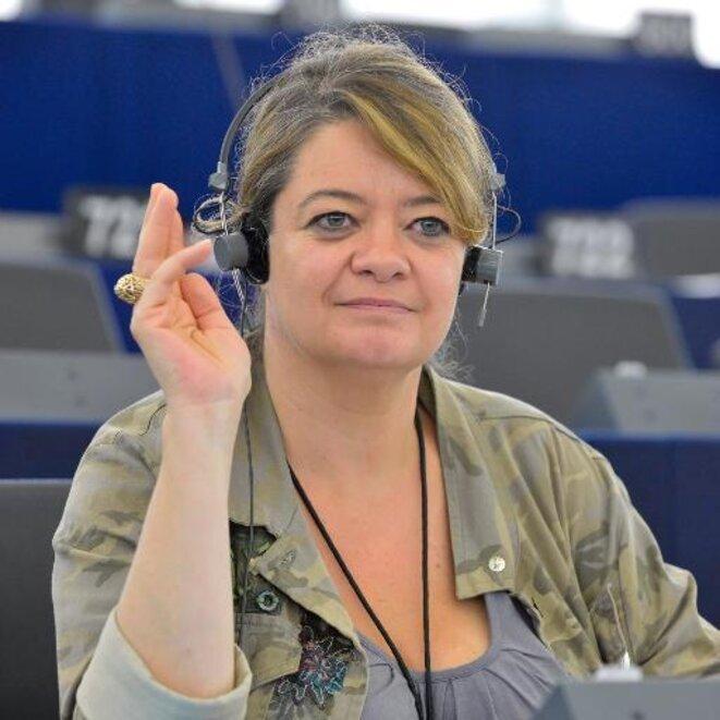 L'eurodéputée Isabelle Thomas, chargée de l'Europe dans l'équipe de campagne de Benoît Hamon. © DR