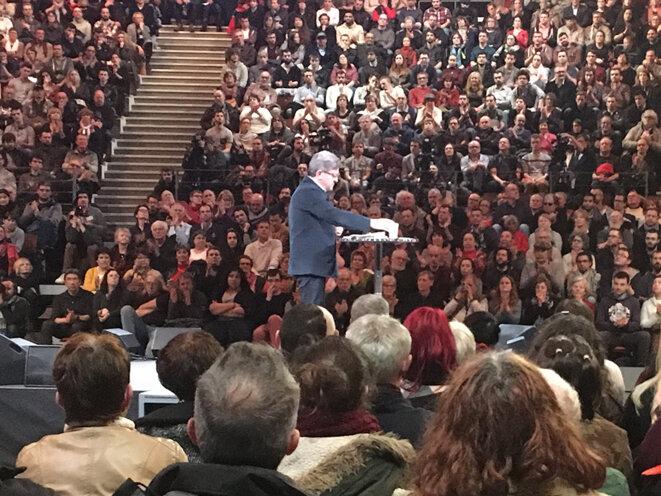 Jean-Luc Mélenchon mardi 28 février, à Brest © CG