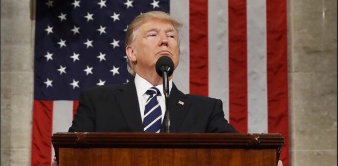 Donald Trump devant le Congrès, le 28 février 2017. © Reuters