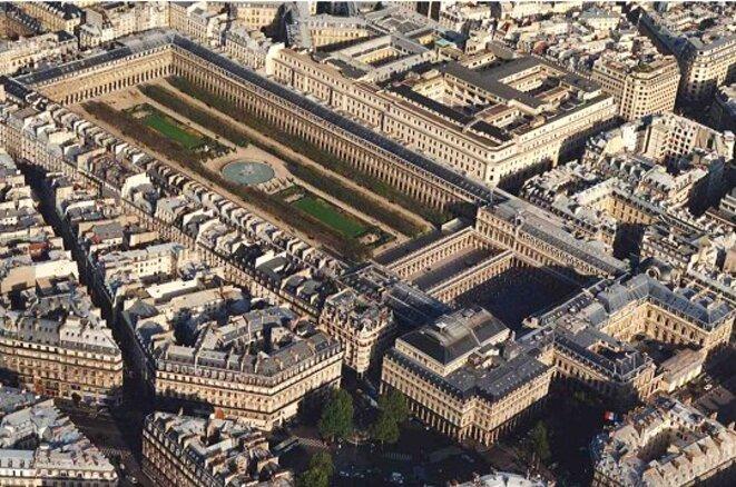 copie d'écran - le cc occupe l'aile Montpensier du Palais-Royal