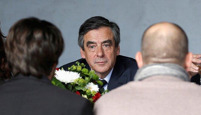 François Fillon à Nîmes, jeudi 2 mars. © Reuters