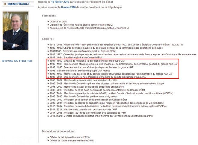copie ecran modifiée - site du conseil constitutionnel
